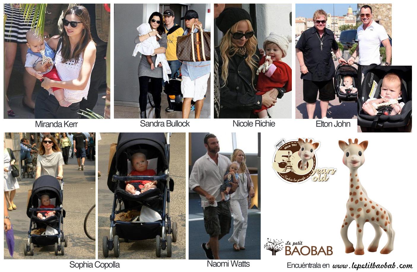 Sophie la Jirafa celebrities