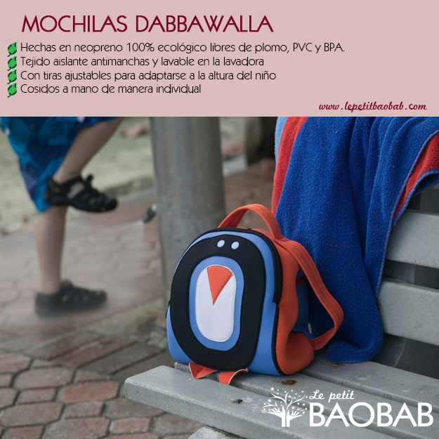 mochilas infantiles ecologicas Dabbawalla