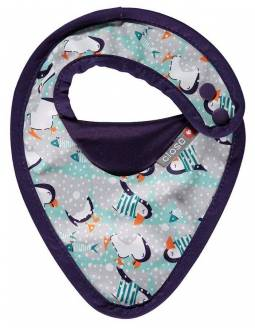 Babero reversible POP IN Ajustable - Pingüinos