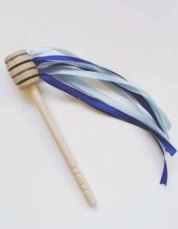 Cuchara De Miel De Madera Natural PAPALLONA - Azul