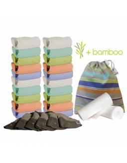 Pack Pop in de 20 pañales V2 con interior de bambú - Tono Pastel