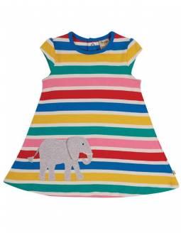 Vestido De Algodón Orgánico FRUGI Arcoíris - Elefante