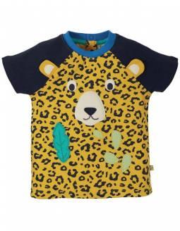 Camiseta De Manga Corta Algodón Orgánico FRUGI - Leopardo