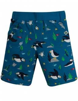 Pantalón Corto De Algodón Orgánico FRUGI Reversible - Pingüinos