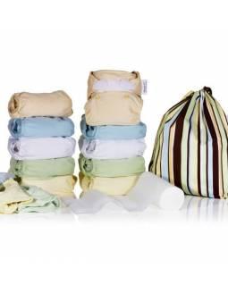 Pack Pop in de 10 pañales V2 con interior de bambú - Tono Pastel