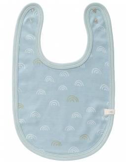 babero-bebe-algodon-organico-fresk-arcoiris-azul