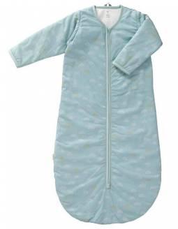 Saco Dormir Mangas Desmontables Algodón Orgánico FRESK - Arcoíris Azul