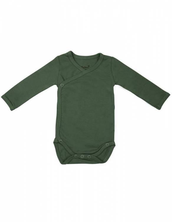 body-bebe-recien-nacido-manga-larga-bambu-timboo-aspen-green
