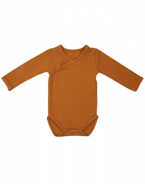 body-bebe-recien-nacido-manga-larga-bambu-timboo-inca-rust
