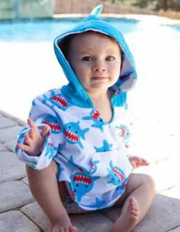 poncho-albornoz-proteccion-solar-upf50-zoocchini-tiburon-bebe