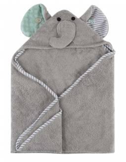 Capa De Baño Bebé 100% Algodón ZOOCCHINI - Elefante