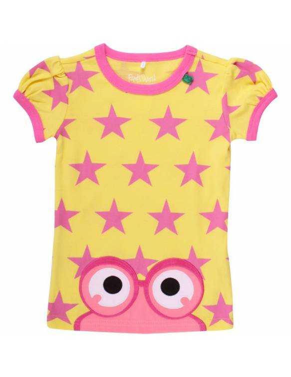 "Camiseta FRED's WORLD de algodón orgánico ""Estrellas/Amarillo"""