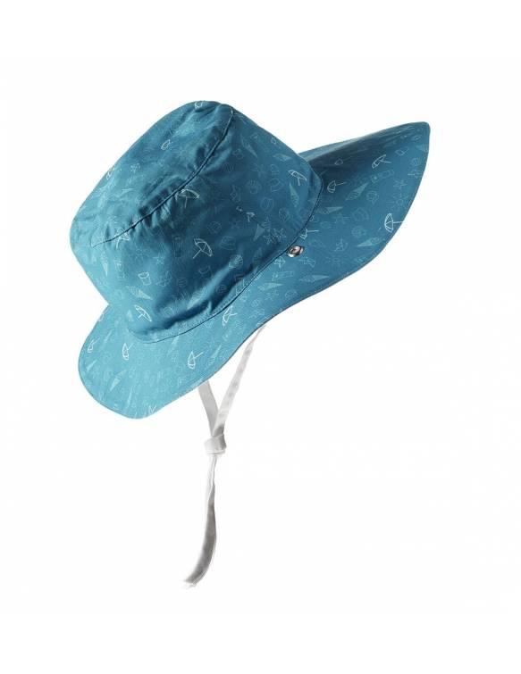 """Gorro reversible Ki ET LA con protección rayos UVA """"Azul"""""""