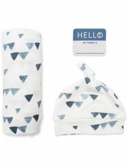 conjunto-muselina-bambu-gorro-lulujo-triangulos-azules