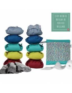 Pack 10 Pañales POP-IN Color Vivo De Bambú + Accesorios
