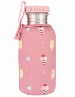 Botella Infantil Acero TUTETE Con Funda Neopreno - Sugary