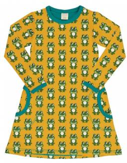 Vestido Algodón Orgánico MAXOMORRA - Ranas