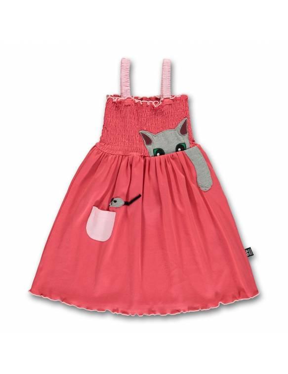 """Vestido UBANG de algodón orgánico """"Gato y Ratón"""""""