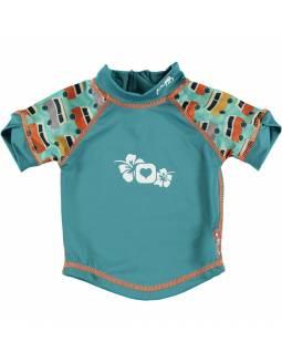 "Camiseta POP IN con filtro solar UPF50 ""Caravana Verde"""