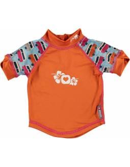 """Camiseta POP IN con filtro solar UPF50 """"Caravana Naranja"""""""