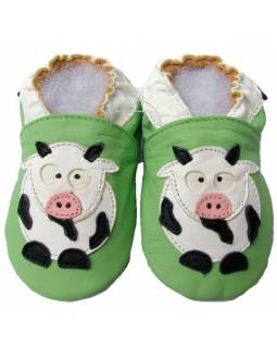 "Zapatos de gateo ecológicos ""Vaca"""