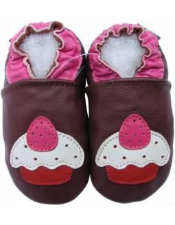 "Zapatos de gateo ecológicos ""Cupcake"""