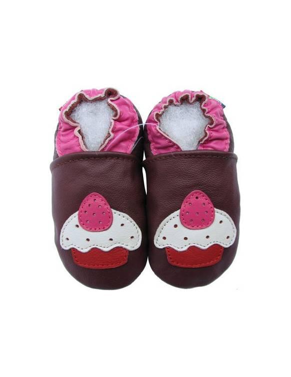 "Zapatos de gateo ecológicos \\""Cupcake\\"""