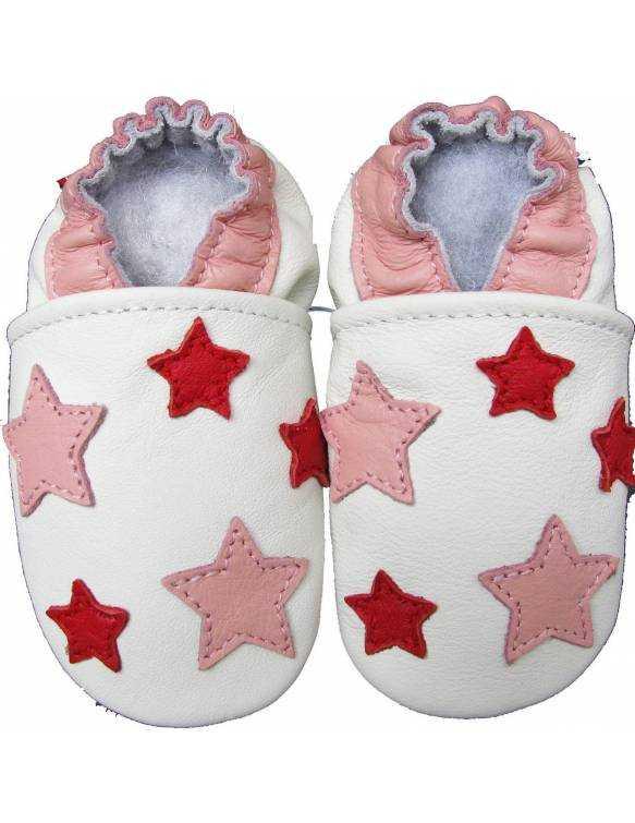 "Zapatos de gateo ecológicos ""Pink Stars"""