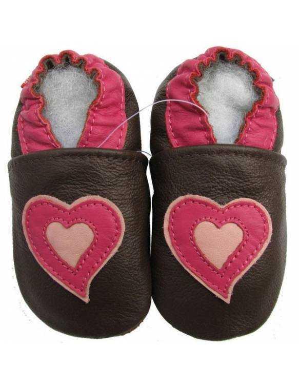 """Zapatos de gateo ecológicos """"Corazón"""""""
