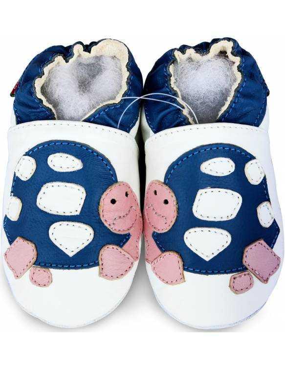 "Zapatos de gateo ecológicos ""Tortuga"""