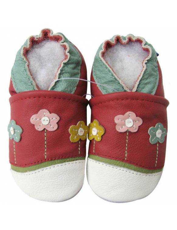 "Zapatos de gateo ecológicos ""Flores"""