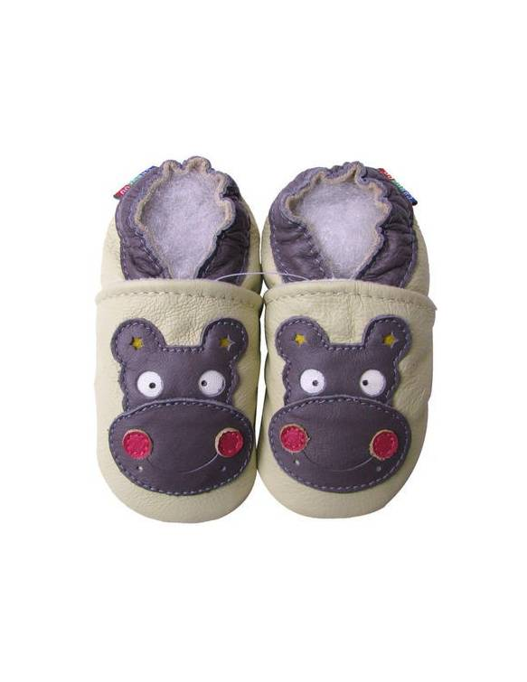 "Zapatos de gateo ecológicos ""HIppo"""