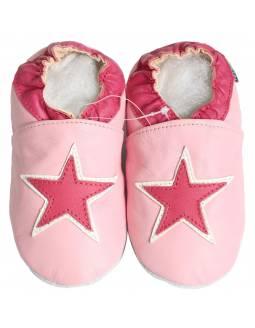 """Zapatos de gateo ecológicos """"Estrella Rosa"""""""