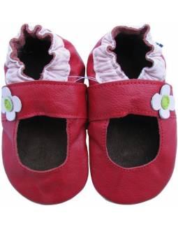 """Zapatos de gateo ecológicos """"Manoletina Roja"""""""