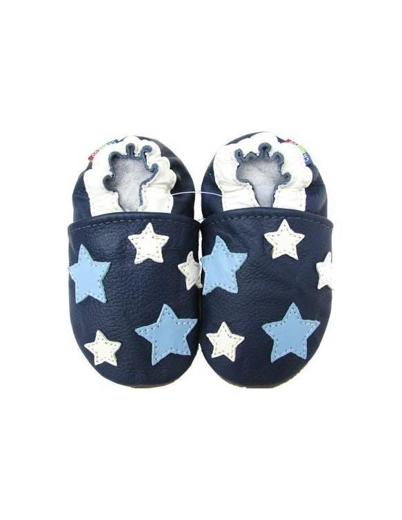 "Zapatos de gateo ecológicos ""Navy Stars"""