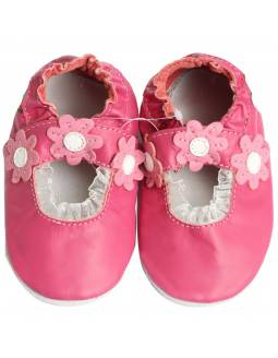 """Zapatos de gateo ecológicos """"Manoletina Rosa"""""""