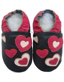 """Zapatos de gateo ecológicos """"Corazones"""""""
