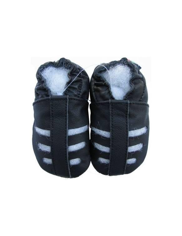 """Zapatos de gateo ecológicos """"Sandalias Negras"""""""