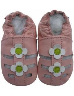 """Zapatos de gateo ecológicos """"Sandalias Rosa"""""""
