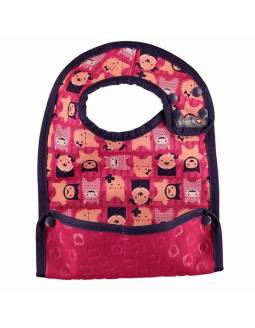 "Babero reversible POP IN con bolsillo para migas ""Monster Edie"""