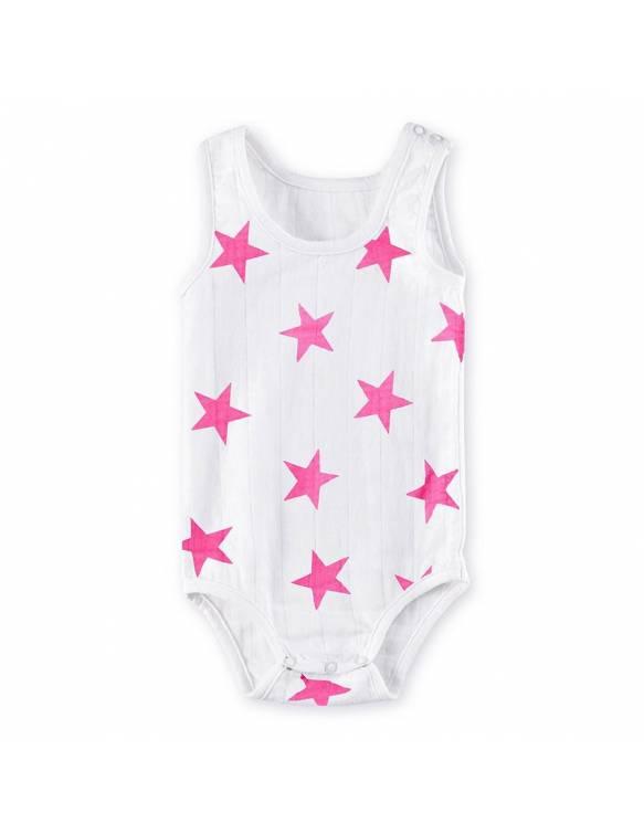 Body tirantes de muselina ADEN+ANAIS Estrella rosa