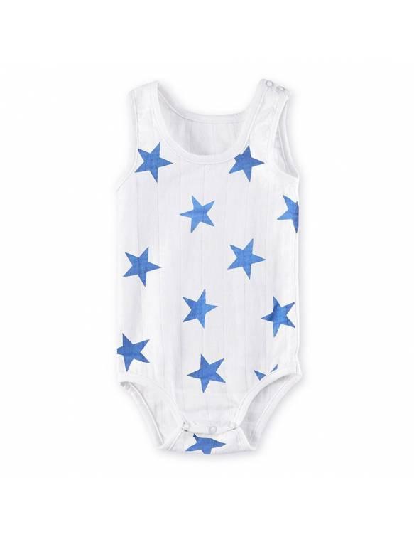 Body tirantes de muselina ADEN+ANAIS Estrella azul