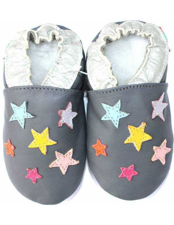 "Zapatos de gateo ecológicos ""Estrellas Mix"""