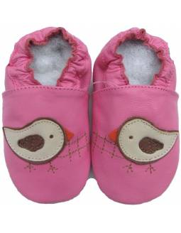 "Zapatos de gateo ecológicos \\""Pájaro Rosa\\"""