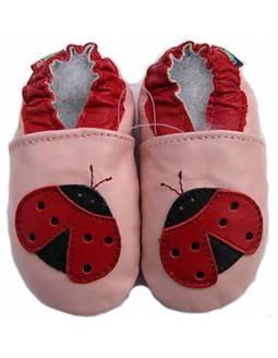 "Zapatos de gateo ecológicos ""Mariquita"""