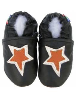 "Zapatos de gateo ecológicos \\""Estrella Naranja\\"""