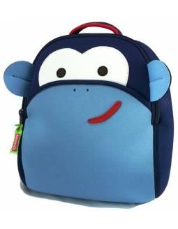 "Mochila DABBAWALLA de neopreno ecológico ""Mono Azul"""