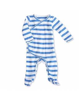 Pelele manga larga de muselina ADEN+ANAIS - Rayas Azul