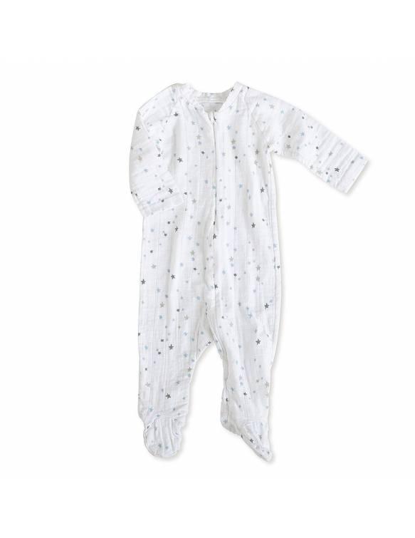 Pelele manga larga de muselina con cremallera ADEN+ANAIS - Night Sky - Estrellas