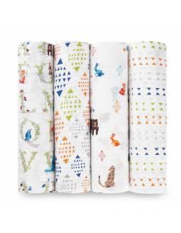 "Muselinas PACK aden+anais de algodón ""Paper Tales"""